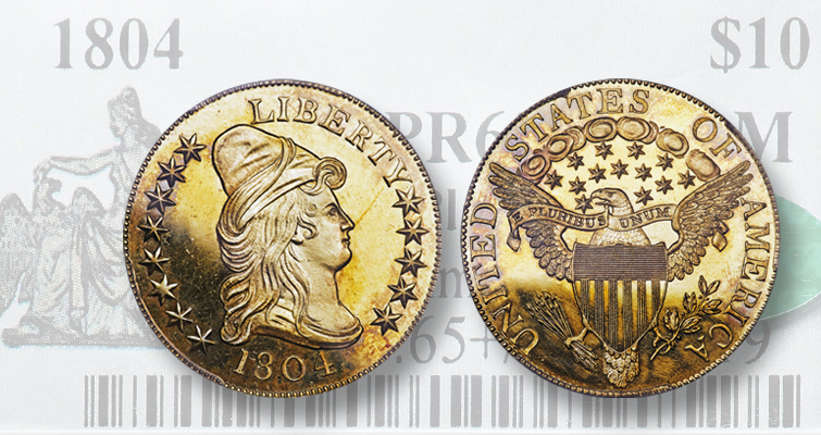 1804 Capped Bust gold $10 eagle
