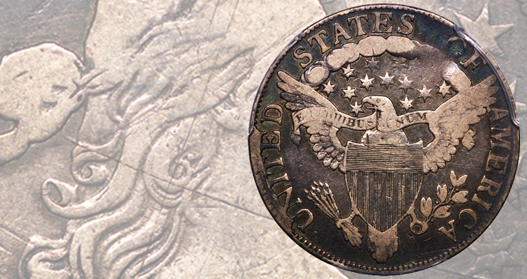 Rare O-108 marriage of 1806 Draped Bust half dollar in Downey sale