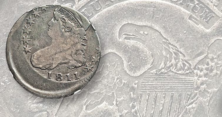 1811 Capped Bust half dollar error
