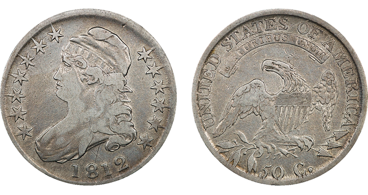 1812 Capped Bust Half Dollar Overton 110
