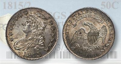 Capped Bust 1815/2 half dollar
