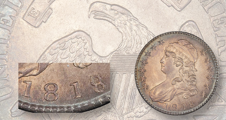 1818/7 Capped Bust half dollar is an 'affordable' Pogue item: Market Analysis