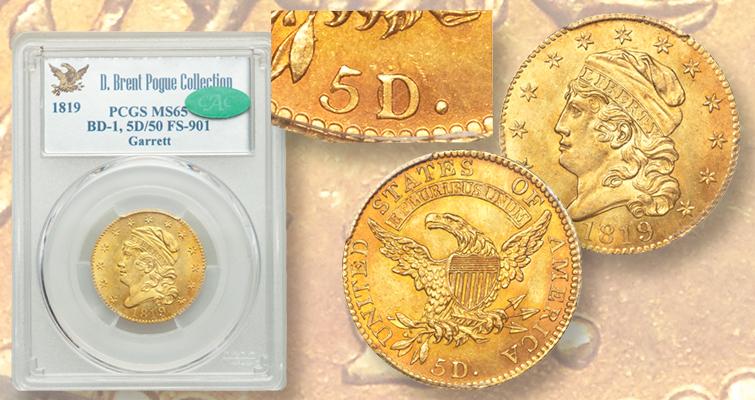 Capped 1819 half eagle