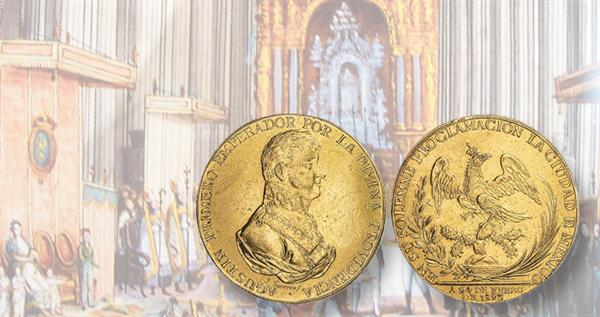 1823-augustin-iturbide-proclamation-medal-and-coronation