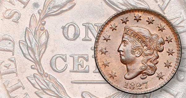 1827-coronet-large-cent-graded-brown
