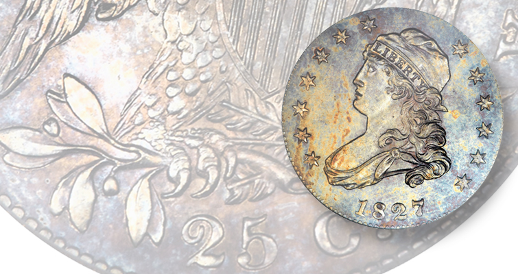 This original 1827 quarter dollar fetched $411,250 at auction in 2014.