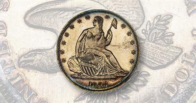 1838 Seated Liberty half dollar pattern