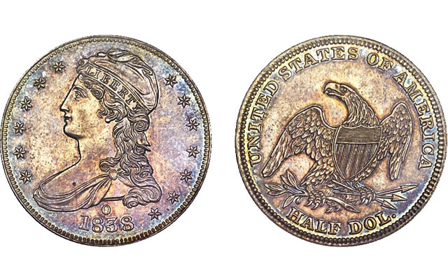 This 1838-O branch mint Proof half dollar sold for $732,500 at a Heritage auction in 2013.