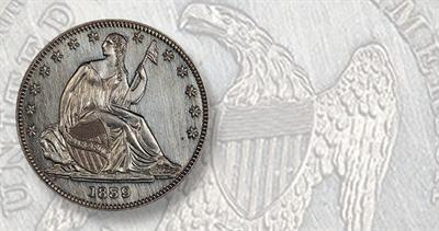 1839 Seated Liberty half dollar