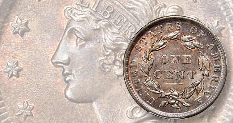 What makes an 1839 Coronet cent a 'Silly Head' example?