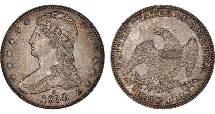 1839-O Capped Bust half dollar
