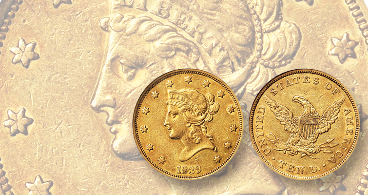 1839/8 Coronet eagle offers value at Rarities Auction: Market Analysis