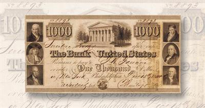 December 1840 $1,000 bill with serial number 8893