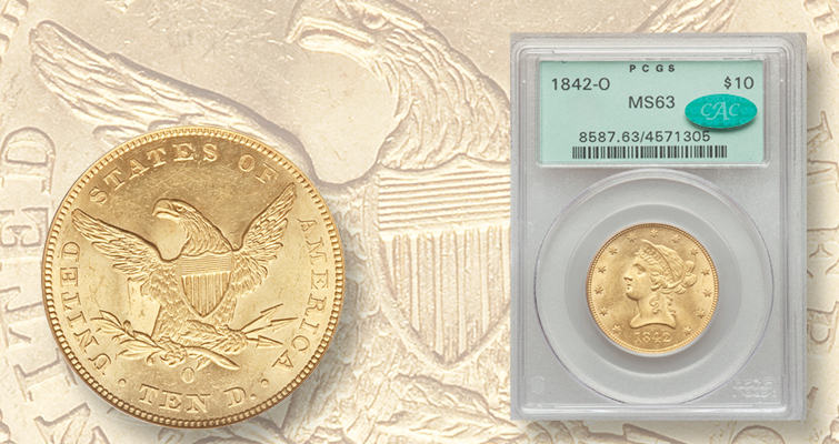 Noteworthy Coronet gold eagles among highlights of Heritage Long Beach auction