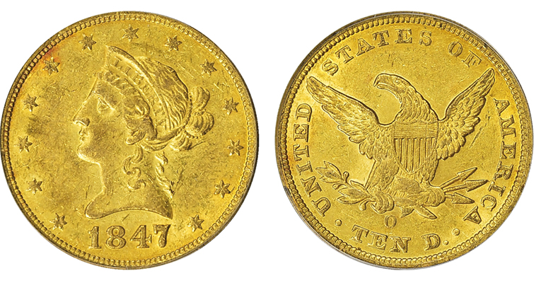 1847-o-coronet-eagle-au-50-merged