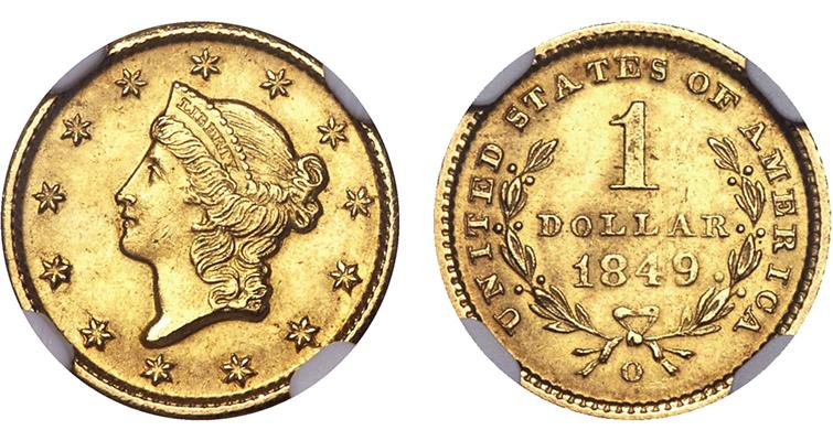 1849-coronet-gold-dollar-ha