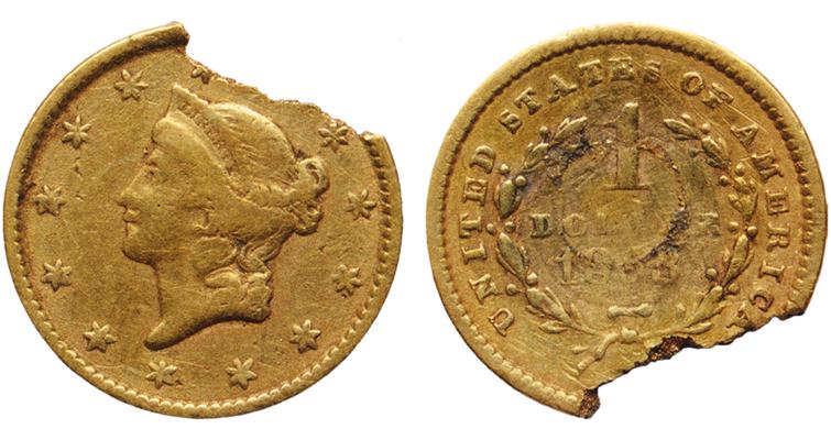 1853-coronet-dollar-broken-merged