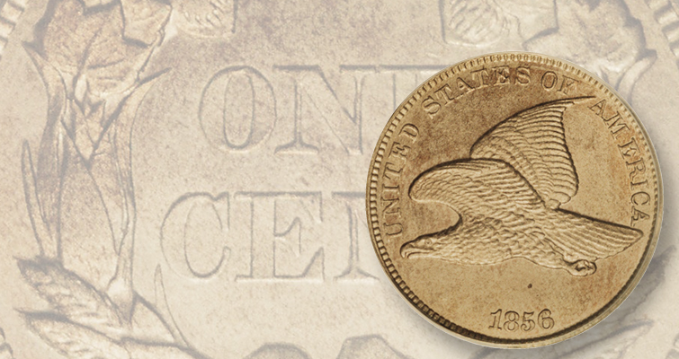 This PCGS MS-65 1856 Flying Eagle cent sold for $92,000 at a Heritage Auctions sale at the 2006 FUN show.
