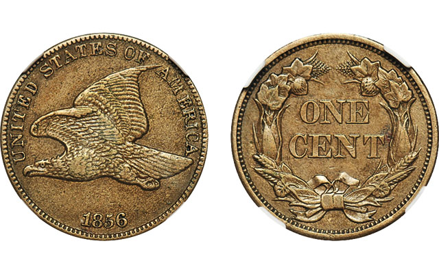 19th century key 1856 Flying Eagle cent graded Proof 53 brings $9,775 at auction: Market Analysis