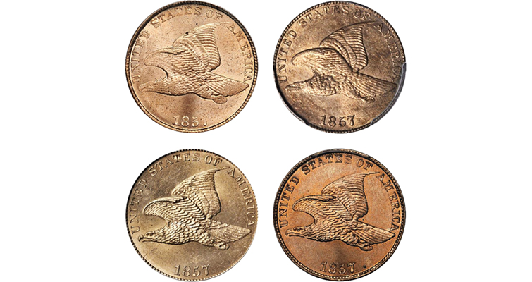 1857 Flying Eagle cents merged