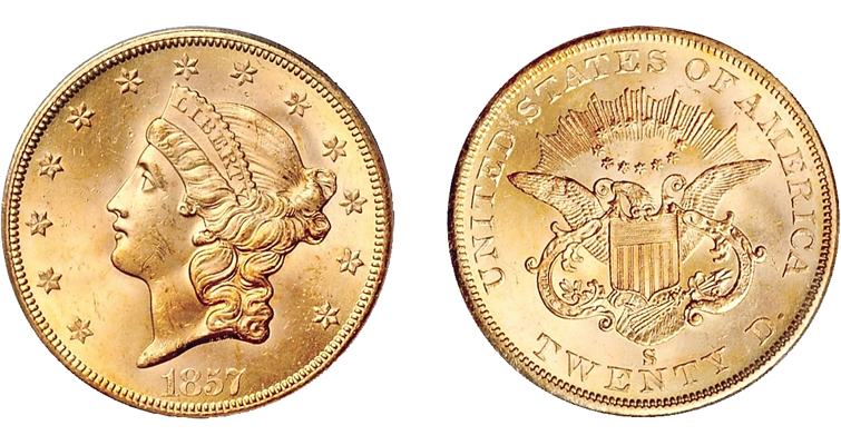 1857-S Coronet Double Eagle ANR merged