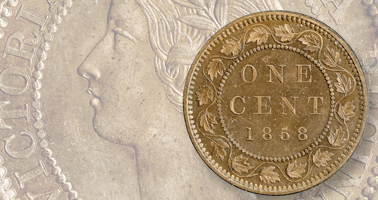 The 1858 Canada cent could be used as a unit of weight and measure, being 1 inch in diameter and weighing 1/100th of a pound.