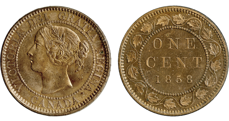 The 1858 Canada cent could be used as a unit of weight and measure, being 1 inch in diameter and weighing 1/100th of a pound. Canadians didn't find it all that useful, though.