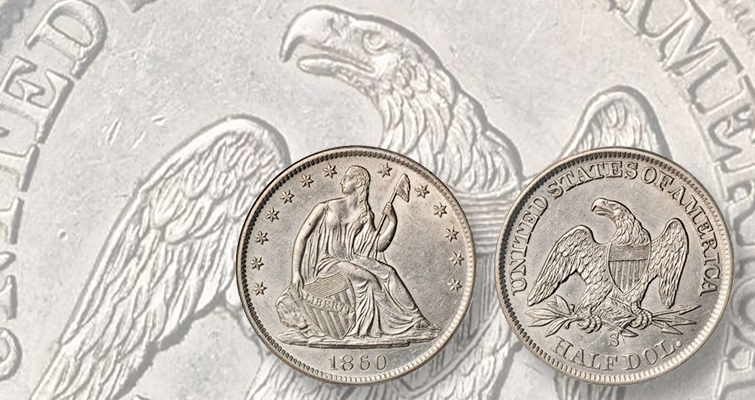 1860-S Seated Liberty half dollar with luster brings solid value at ANA: Market Analysis