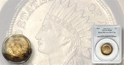 1863 Indian Head cent error