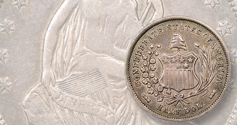 Original 1861 Confederate half dollar off market for eight decades to appear at auction for first time