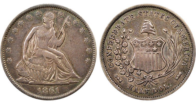 1861 Confederate States of America half dollar