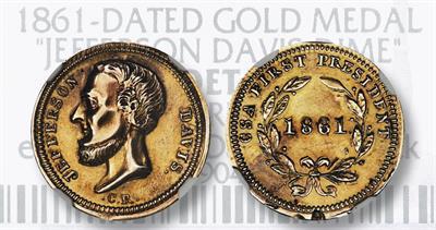 1861 Jefferson Davis medal