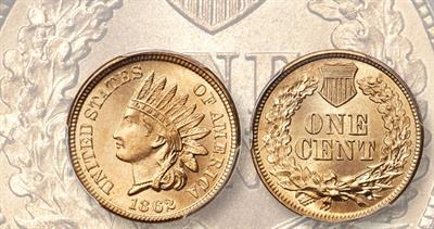 1862 cent