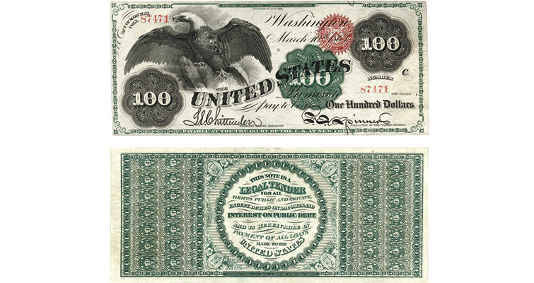 Friedberg 167a 1863 $100 Spread Eagle legal tender note