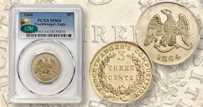 1864 Lewis Feuchtwanger token