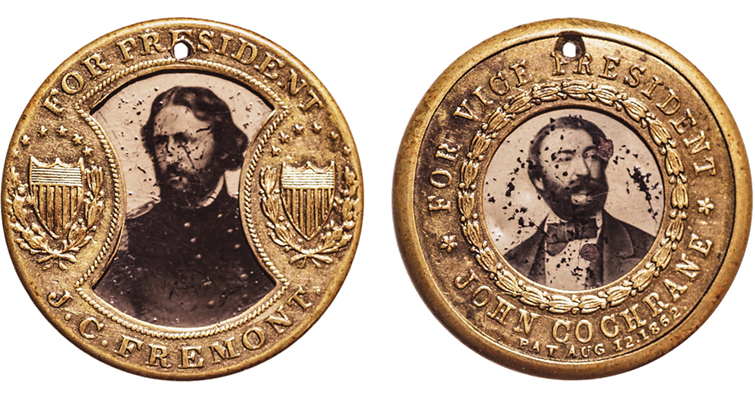 1864 political campaign token merged