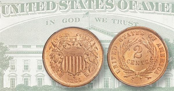 1864-two-cent-in-god-we-trust-and-paper-money