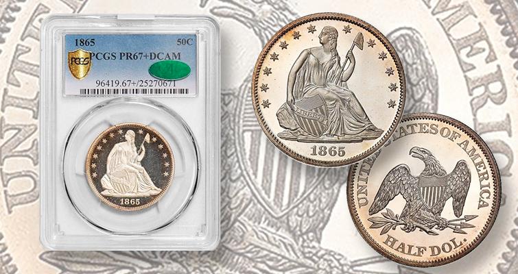 1865 hall dollar