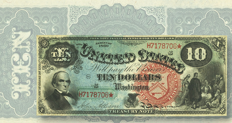 Series 1869 $10 United States note