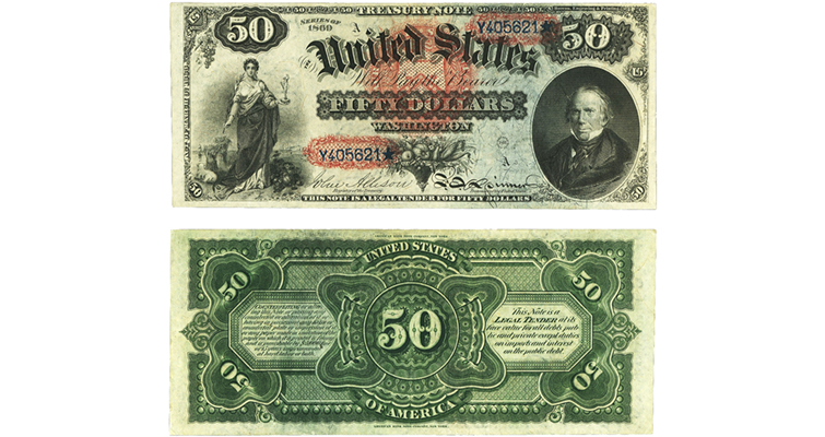 Series 1869 $50 United States note