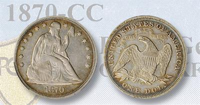 1870-CC silver dollar