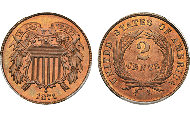 1871 2-cent piece 'elusive at the Gem level,' most difficult issue to acquire in set: Market Analysis