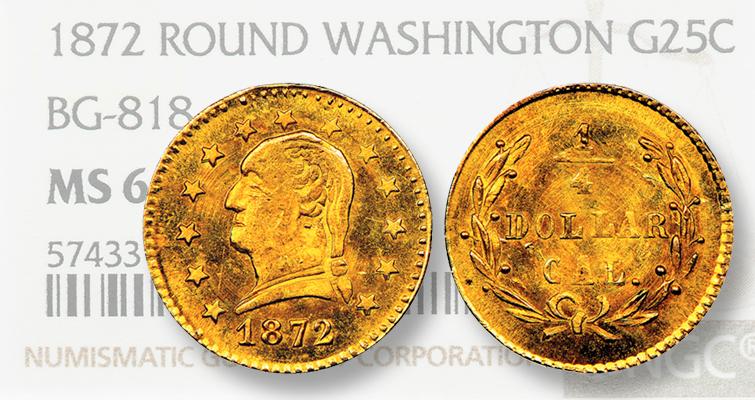 1872 California gold