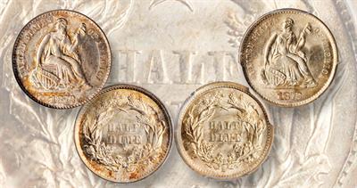 1872-S half dime mint marks