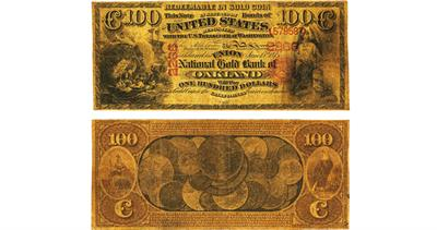 1875 $100 Oakland note
