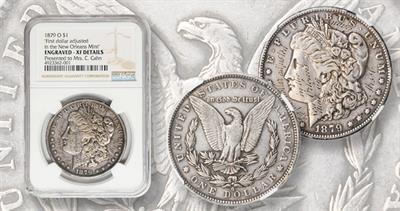 1879-o Morgan dollar engraved