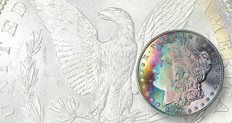 Common 1879-S Morgan, Reverse of 1879 Morgan dollar realizes $13,888 in GreatCollections sale