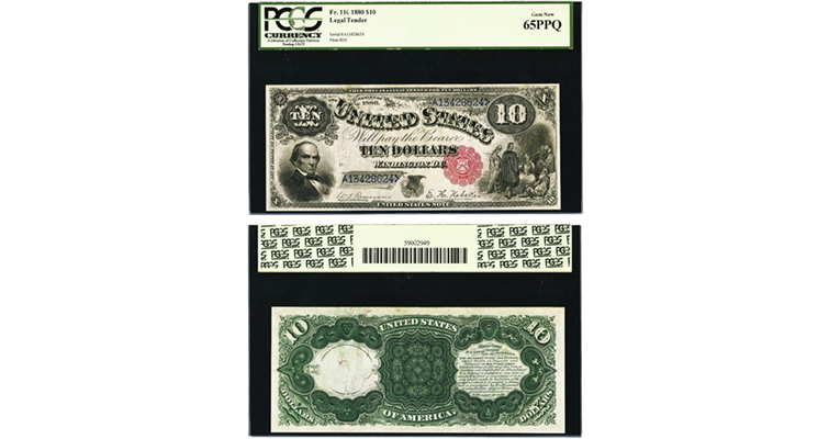 Series 1880 $10 United States note