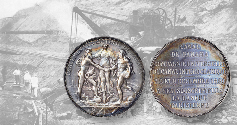 Silver medal applauds French efforts to build Panama Canal