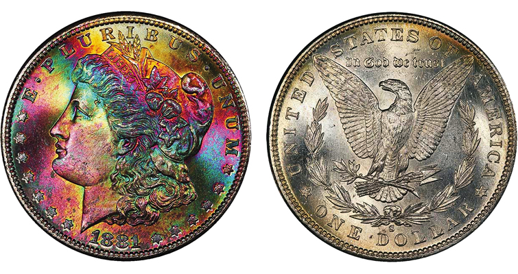 MS-67 1881-S Morgan dollar